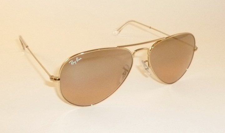 6258ac9d8e517 New RAY BAN Aviator Sunglasses Gold Frame RB 3025 001 3E Pink Mirror ...