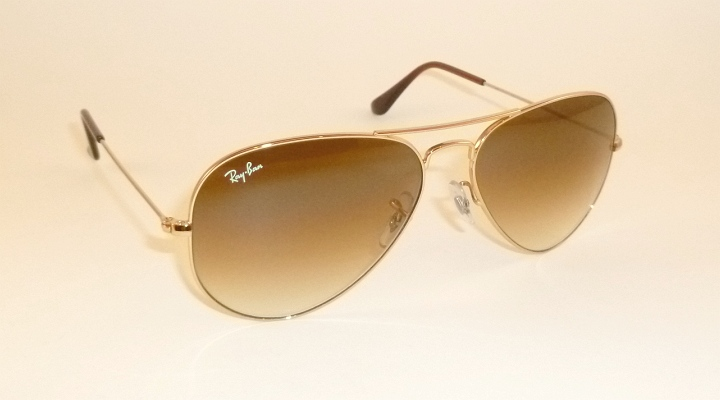 aca13faffa08a Details about New RAY BAN Aviator Sunglasses Gold Frame RB 3025 001 51  Gradient Brown 62mm