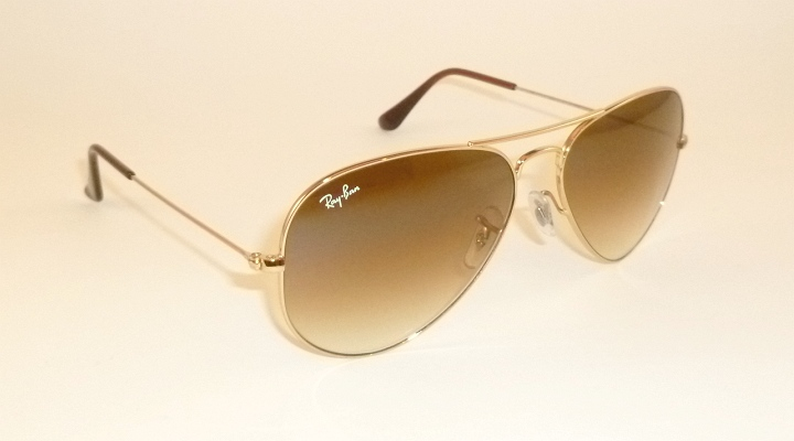 a49dbbf79a Details about New RAY BAN Aviator Sunglasses Gold Frame RB 3025 001 51 Gradient  Brown 55mm