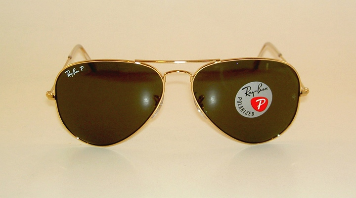 7dc296a1c6 New RAY BAN Aviator Sunglasses Glass Polarized Green RB 3025 001 58 ...