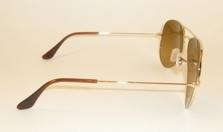 810625da3f5 New RAY BAN Aviator Sunglasses Gold RB 3025 001 M2 Polarized Brown ...