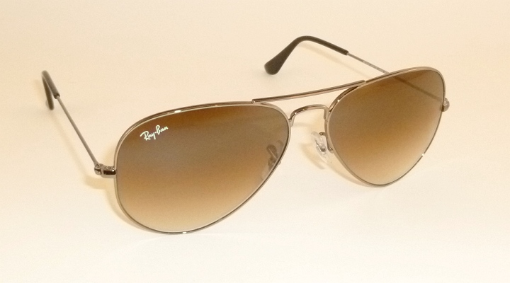 a4cba896bd Details about New RAY BAN Aviator Gunmetal Frame RB 3025 004 51 Gradient  Brown Lenses 58mm