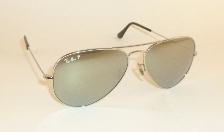 bbd1654eb New Ray Ban Aviator Sunglasses RB 3025 019/W3 Polarized Silver ...