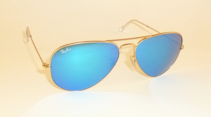 1b7d9321d9 New RAY BAN Aviator Sunglasses Matte Gold Frame RB 3025 112 17 Blue ...