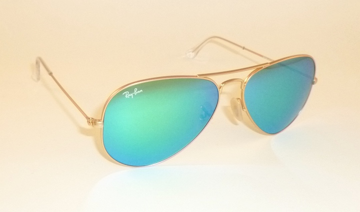 42ea07d950 New RAY BAN Aviator Sunglasses Matte Gold Frame RB 3025 112 19 Green ...