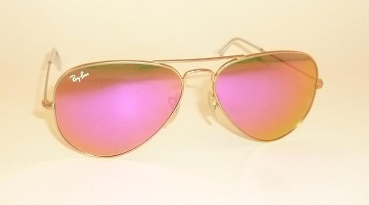 New Ray Ban Aviator Sunglasses Matte Gold Frame Rb 3025 112 4t