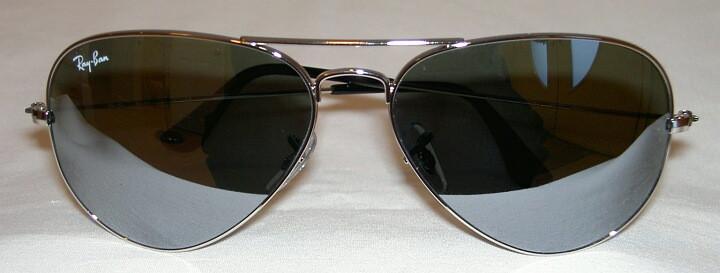 e732cc02e3 New Ray Ban AVIATOR Sunglasses Silver Frame RB 3025 003 40 Mirror ...