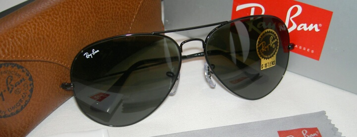 f26701ee31 New Ray Ban Aviator Sunglasses Black Frame 62mm Large RB 3026 L2821 ...
