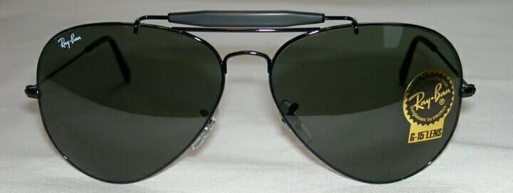 43d87750ea New RAY BAN Sunglasses Black AVIATOR Outdoorsman II RB 3029 L2114 G ...