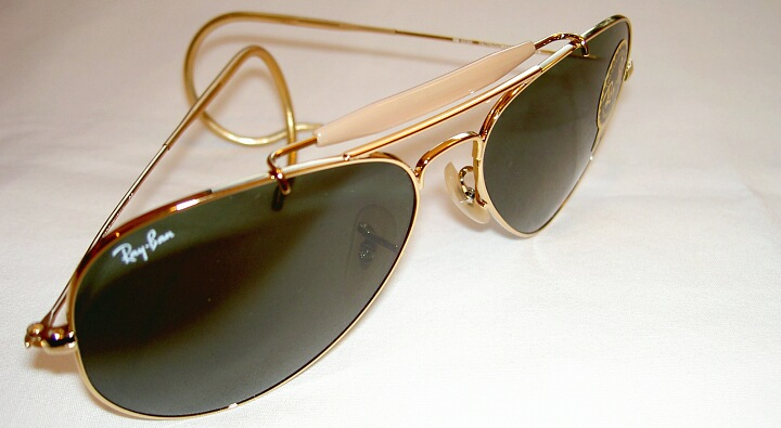 0569a4459d New RAY BAN Sunglasses AVIATOR OUTDOORSMAN Gold RB 3030 L0216 G-15 ...