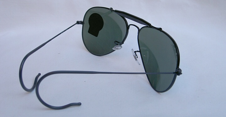 9cb1a2a448 New Ray Ban Sunglasses AVIATOR OUTDOORSMAN Black RB 3030 L9500 G-15 ...