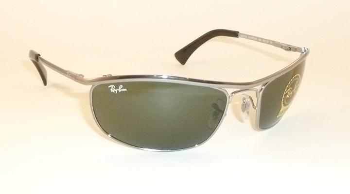 New RAY BAN Sunglasses PREDATOR OLYMPIAN Gunmetal RB 3119 004 G-15 Glass Lenses