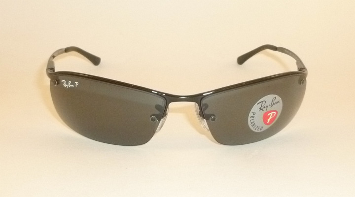 8fb3770d6c New RAY BAN Sunglasses Black Frame RB 3183 002 81 Smoke Polarized ...