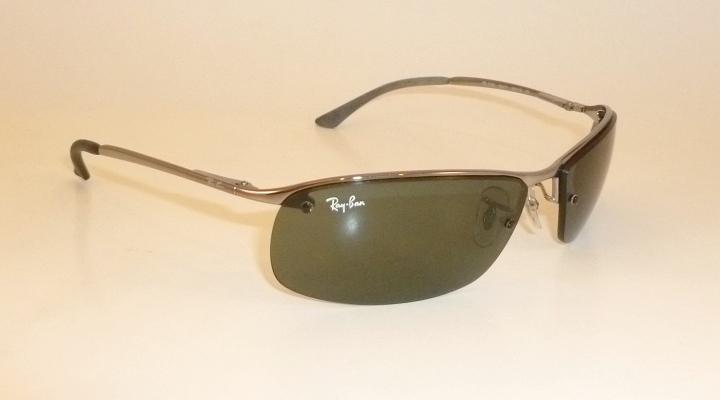 6fbdafdaf0 New RAY BAN Sunglasses TOP BAR Gunmetal Frame RB 3183 004 71 Gray ...