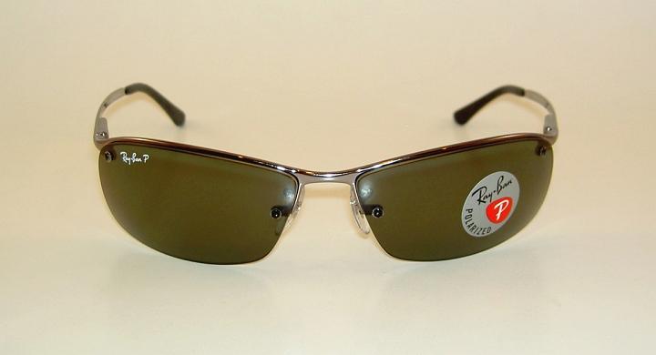 c70218592dbc01 New RAY BAN Sunglasses Gunmetal Frame RB 3183 004 9A POLARIZED Gray ...