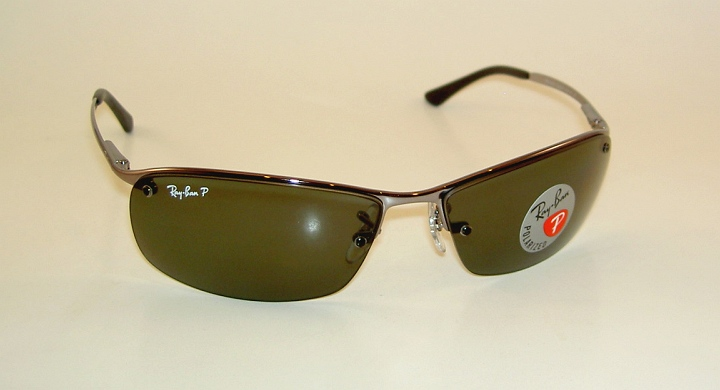 9d8b61d922 New RAY BAN Sunglasses Gunmetal Frame RB 3183 004 9A POLARIZED Gray Green  Lens