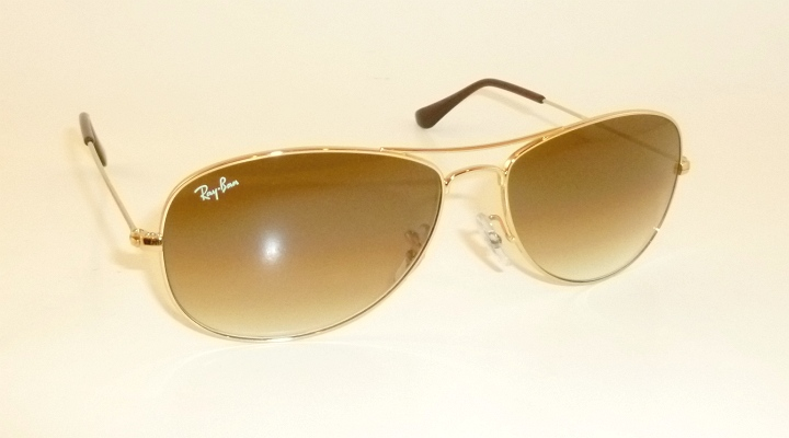 4fac5c4ec8 New RAY BAN Sunglasses COCKPIT Gold RB 3362 001 51 Brown Gradient ...