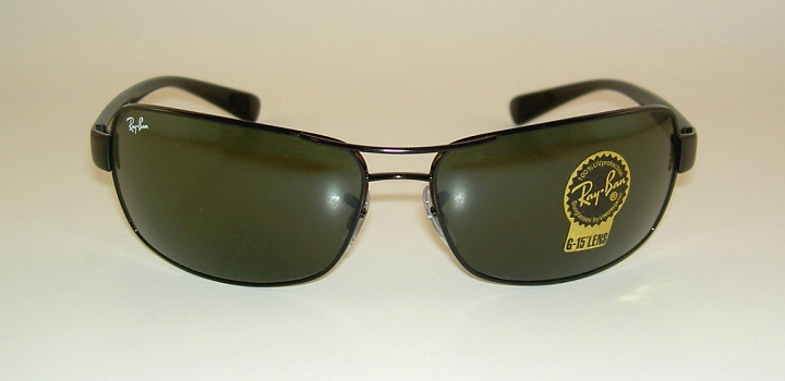 a9aea8590d3 New RAY BAN Sunglasses Black Frame RB 3379 002 G 15 Glass Lenses on ...