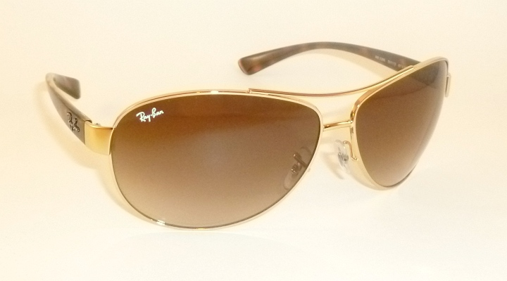 42652b264e1 Details about New RAY BAN Sunglasses Gold Frame RB 3386 001 13 Gradient  Brown Lenses 67mm