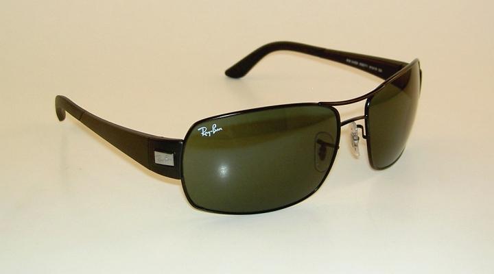 cca82dd169 RAY BAN Sunglasses Black Frame RB 3426 006 71 Grey Green Lenses on ...