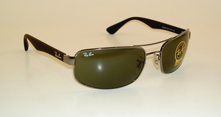 3c2e789299f84 New RAY BAN Sunglasses Gunmetal Frame RB 3445 004 G-15 Glass Lenses ...