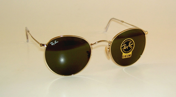 new ray ban sunglasses round metal rb 3447 001 gold frame g 15 glass rh ebay com