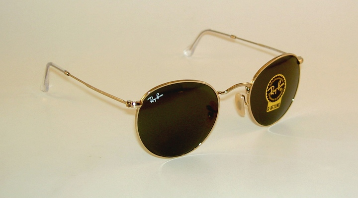 99038494948 New RAY BAN Sunglasses ROUND METAL RB 3447 001 Gold Frame G-15 Glass ...