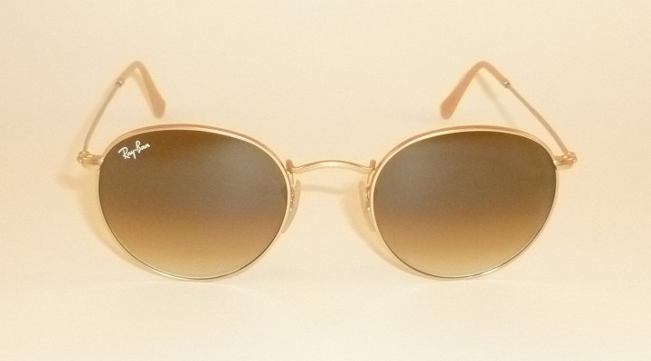 54148c14c44c63 RAY BAN Sunglasses ROUND METAL Matte Gold Frame RB 3447 112 51 ...