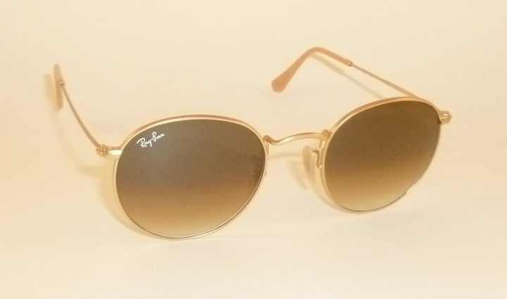 c9bfc863b12a RAY BAN Sunglasses ROUND METAL Matte Gold Frame RB 3447 112 51 ...