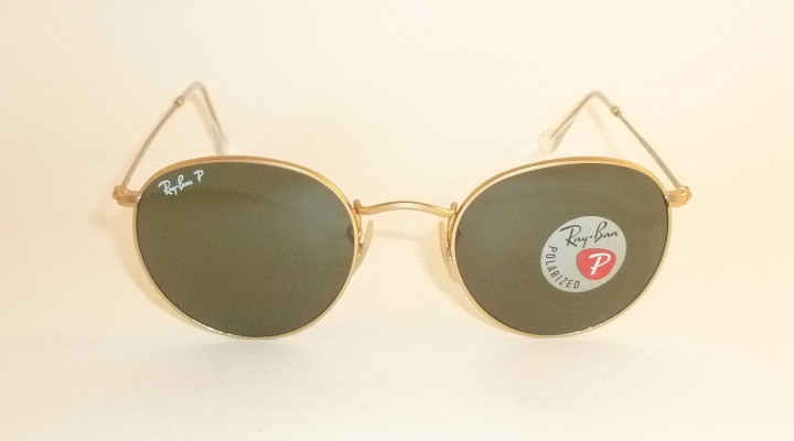 matte gold ray ban aviators polarized