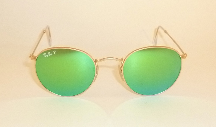 80f974684b New RAY BAN Sunglasses ROUND METAL RB 3447 112 P9 Polarized Green ...