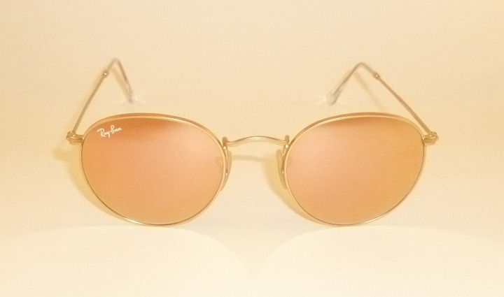 dcb894ea5340 New RAY BAN Sunglasses ROUND METAL Matte Gold RB 3447 112 Z2 Pink ...