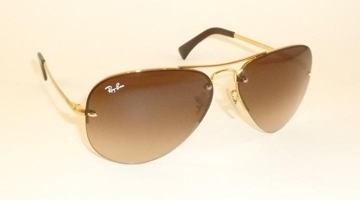 2f4c0e7d9b New RAY BAN Sunglasses AVIATOR Gold Frame RB 3449 001 13 Gradient ...