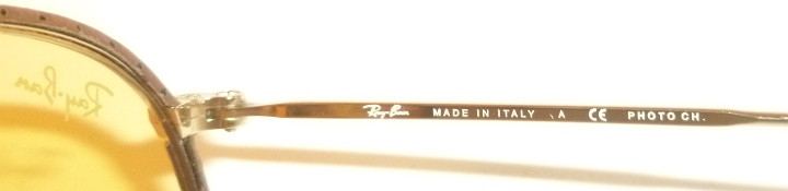 New RAY BAN Round Metal Brown Leather RB 3475Q 9042 4A Yellow ... 129838cd35