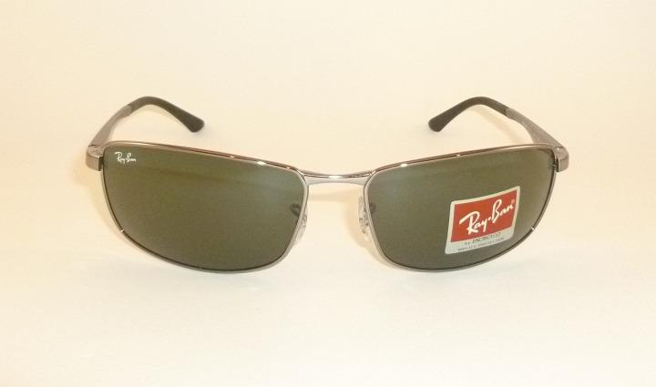 0189411d8a New RAY BAN Sunglasses Gunmetal Frame RB 3498 004 71 Green Lenses ...