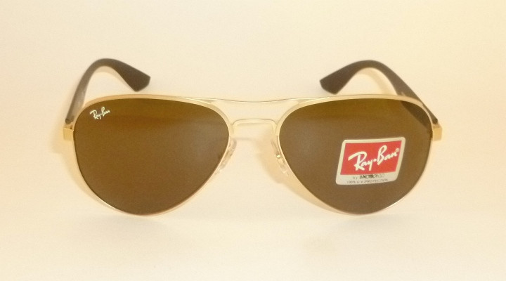 77a759331a New RAY BAN Sunglasses Matte Gold Frame RB 3523 112 73 Brown Lenses ...