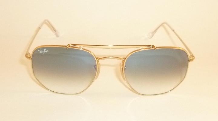 New RAY BAN Marshal Sunglasses Gold Frame RB 3648 001 3F Gradient ... 4f32b387ff