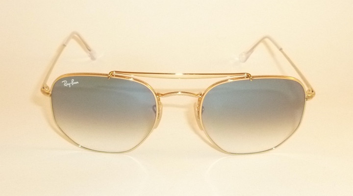 efb66bcc91716 New RAY BAN Marshal Sunglasses Gold Frame RB 3648 001 3F Gradient ...
