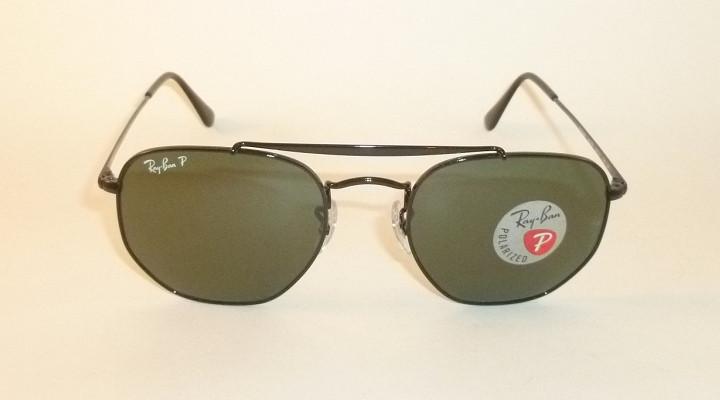 New RAY BAN Marshal Sunglasses Black Frame RB 3648 002 58 Polarized ... c4d5a5e3ca