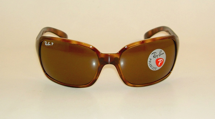 2c7c37af30 New RAY BAN Sunglasses RB 4068 642 57 Glass Polarized Brown Lenses ...