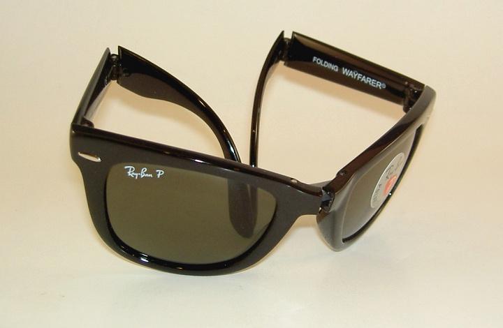 602fa6d3da4 New RAY BAN Sunglasses FOLDING WAYFARER RB 4105 601 58 Polarized ...
