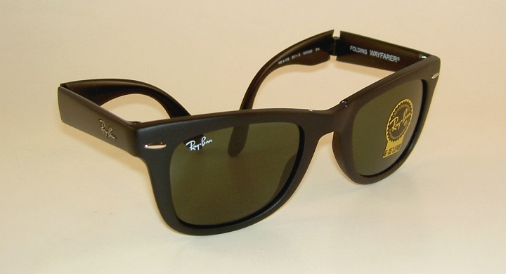 06e3c9bab6377 New RAY BAN Sunglasses FOLDING WAYFARER Matte Black RB 4105 601S ...