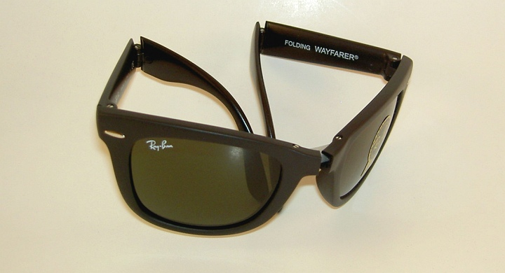 b9752e33ea3f Details about New RAY BAN Sunglasses FOLDING WAYFARER Matte Black RB 4105  601S 54mm Large