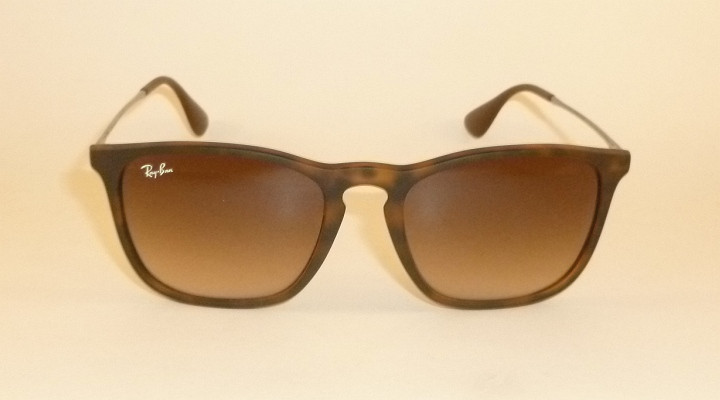 a3e014394a New RAY BAN Chris Sunglasses Matte Tortoise Frame RB 4187 856 13 ...