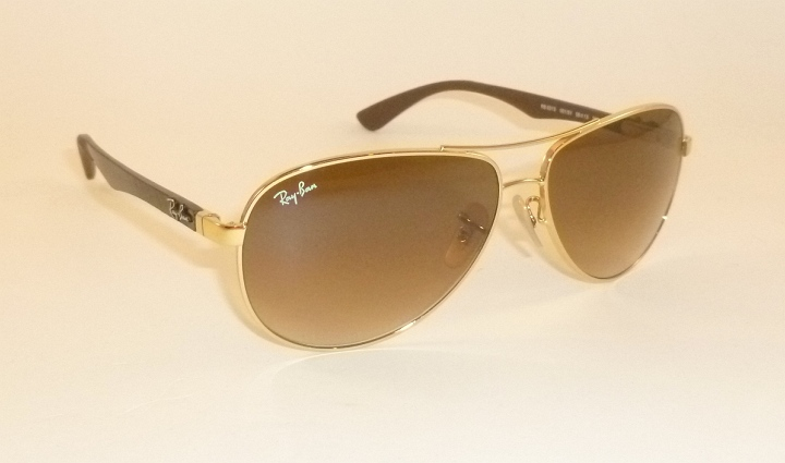 fc6149c475fef New RAY BAN Sunglasses TECH Gold Frame RB 8313 001 51 Gradient Brown ...