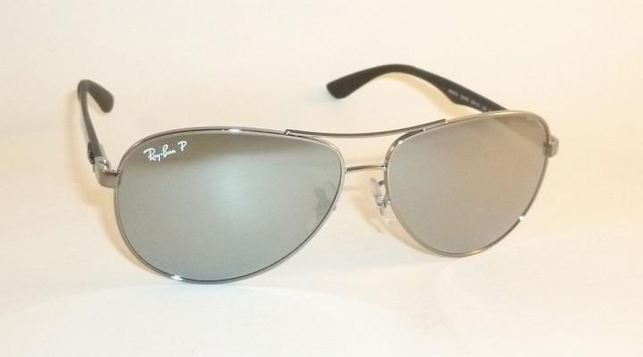 7b1091d9be8 New RAY BAN Sunglasses TECH Gunmetal RB 8313 004 K6 Polarized Silver ...