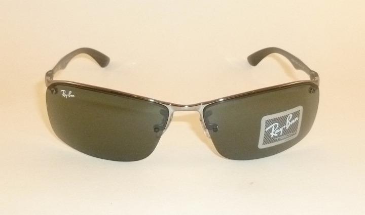 ddcdd6d0bd1b4 New RAY BAN Sunglasses TECH Gunmetal Frame RB 8315 004 71 Green ...