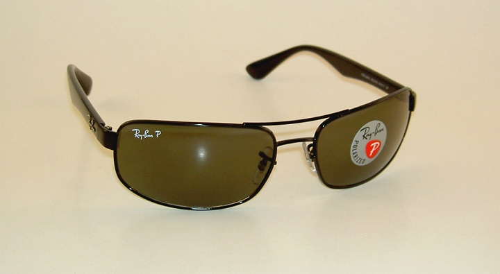 22fa3f278f9c8 Details about New RAY BAN Sunglasses Black Frame RB 3445 002 58 Glass  Polarized Green Lenses