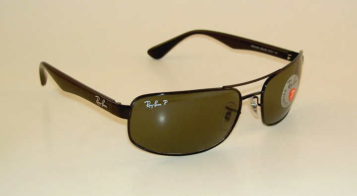 0b88096df2 New RAY BAN Sunglasses Black Frame RB 3445 002 58 Polarized Green ...