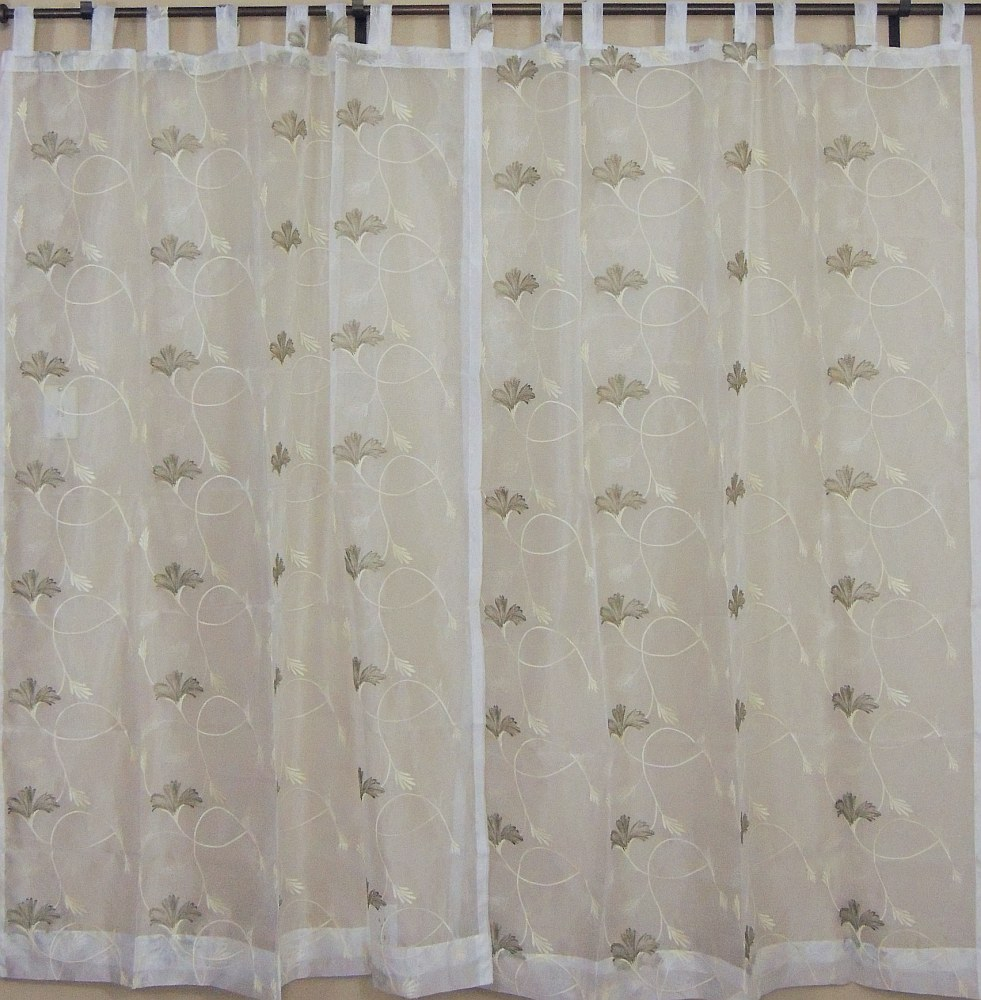 White Indian Sari Curtains 2 Ethnic Window Door Coverings